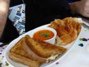 """Thiscrab grilled cheese was """"over the top"""" delicious"""