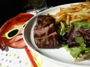 Don had the steak.......divine and rare