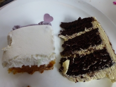 TWO cakes.......thanks to ELONA the pastry chef.