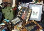 Bits and pieces of framed art