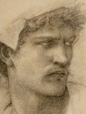 Study for the head of Gawain