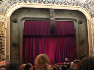 Waiting for the curtain to rise.....
