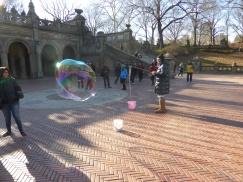 The BUBBLE man........blowing his bubbles