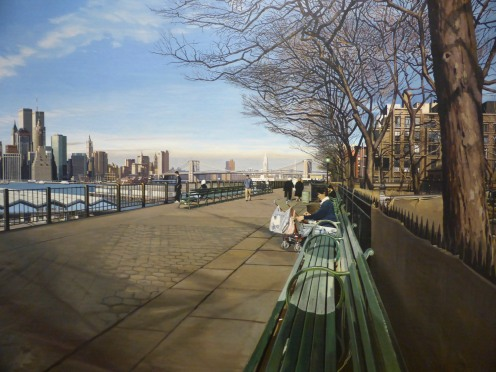 VIEW OF MANHATTAN FROM THE PROMONADE