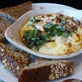 Shirred eggs.......